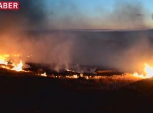 Tekirdağ'da anız yangını