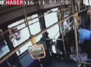 Arıların saldırısına uğrayan kadın otobüsle hastaneye götürüldü