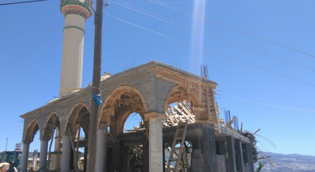 Mersinde cami inşaatında göçük: 1 ölü, 4 yaralı