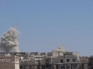 Suriye ordusu varil bombalı saldırı düzenledi