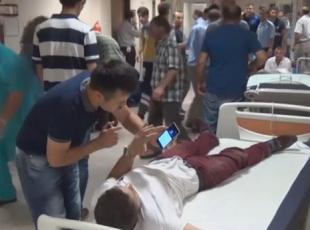 Yaralanan vatandaşlar tedavi altına alındı
