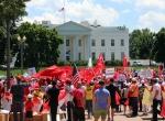 FETÖnün darbe girişimi Beyaz Saray önünde protesto edildi