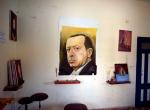 Gazzeli ressam destek için Erdoğanın portresini resmetti