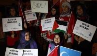 Yabancı öğrenciler de demokrasi nöbetinde