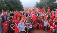 BMnin Cenevre Ofisi önünde FETÖ protestosu