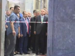 Erdoğan, Meclisin bombalanan bölümlerinde inceleme yaptı