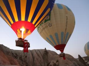 Balonlarda Türk Bayrağı