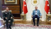 Cumhurbaşkanı Erdoğan Genelkurmay Başkanı Akarı kabul etti