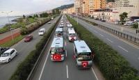 Darbe girişimine tepki için 700 araçla konvoy oluşturdular