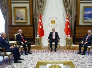 Cumhurbaşkanı Erdoğanın liderleri kabulü başladı