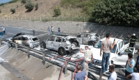 TEMde zincirleme trafik kazası