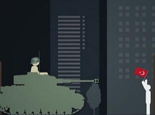 FETÖnün darbe girişimine karşı Türk halkının tepkisini gösteren animasyon