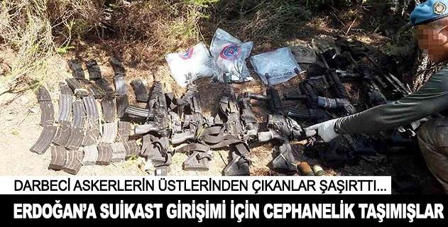 Erdoğana suikast girişimi için cephanelik taşımışlar