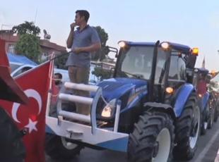Çiftçilerden, FETÖnün darbe girişimine tepki