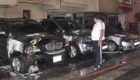 Antalyada 3 lüks otomobil kundaklandı
