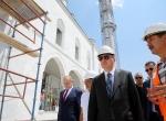 Cumhurbaşkanı Erdoğan Osmanlı Camisi inşaatını inceledi