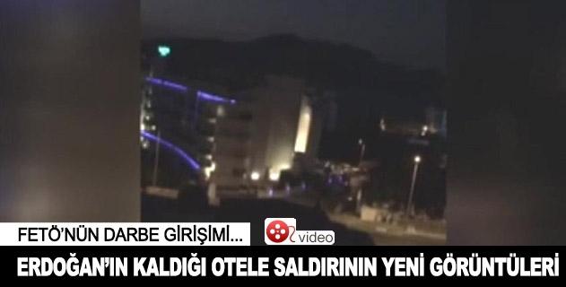 Cumhurbaşkanı Erdoğanın kaldığı otele saldırının yeni görüntüleri