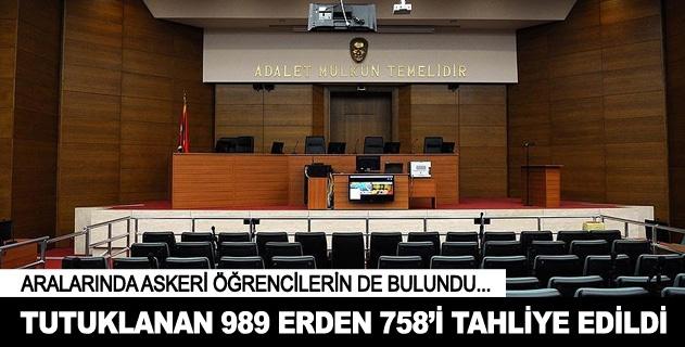 İstanbulda 989 erden 758i tahliye edildi