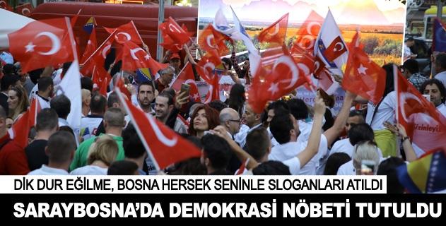 """Saraybosnada """"demokrasi nöbeti"""""""