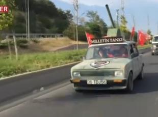 """""""Milletin Tankı"""" caddelerde"""
