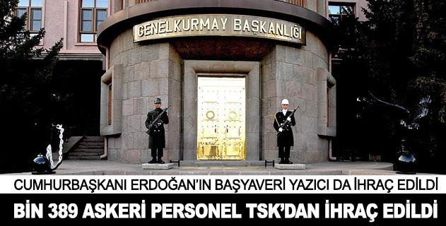 Bin 389 askeri personel TSKdan ihraç edildi