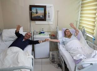 Şehit olduğu haberini TVde duyan kadın hastanede tedavide