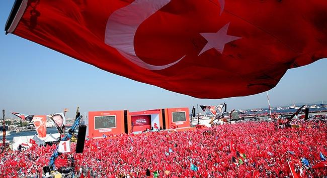 """Spor camiasından """"Demokrasi ve Şehitler Mitingi""""ne destek"""