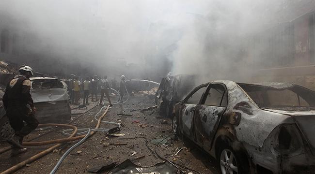 İdlibte vakum bombalı saldırı: 20 ölü, 24 yaralı