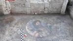 """Antik kentte """"Poseidon"""" tasvirli mozaik bulundu"""