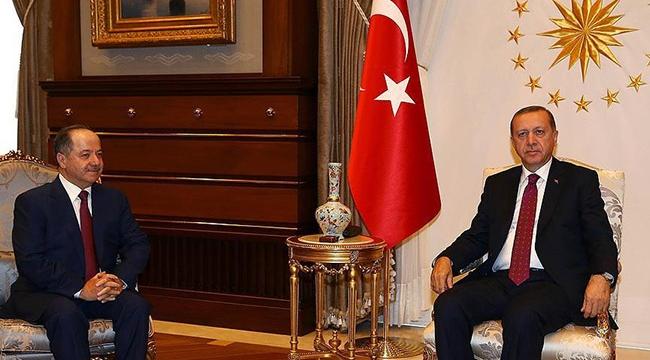 Cumhurbaşkanı Erdoğan, Mesut Barzaniyi kabul etti