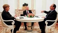 Putin, Hollande ve Merkel ile Ukraynayı görüştü