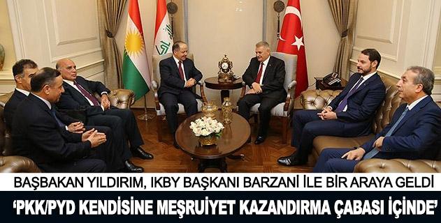 Başbakan Yıldırım, IKBY Başkanı Barzaniyi kabul etti