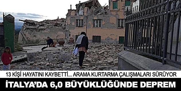 İtalyada 6,0 büyüklüğünde deprem