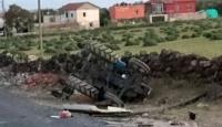 Kayseride traktör devrildi: 1 ölü, 2 yaralı