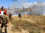 Bayburtta askeri alanda arazi yangını