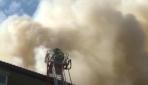 7 katlı apartmanın çatısında yangın