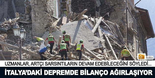 İtalyadaki depremde bilanço ağırlaşıyor