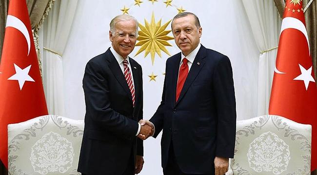 Cumhurbaşkanı Erdoğan Joe Bidenı kabul etti