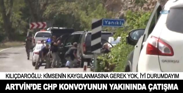CHP konvoyu yakınında çatışma