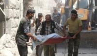 Halepe varil bombalı saldırı: 15 ölü