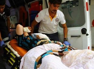 Cerablusta yaralanan Suriyeli 2 kardeş Gaziantepe getirildi