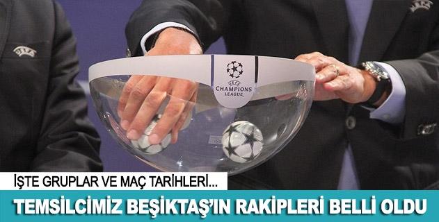 Beşiktaşın rakipleri belli oldu