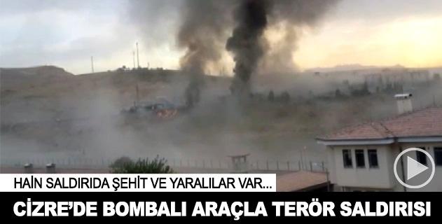 Cizrede polis noktasına bombalı saldırı