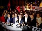 Kılıçdaroğlunun konvoyuna saldırıyı protesto ettiler