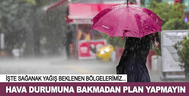 Hava durumuna bakmadan plan yapmayın