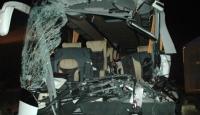 Ankarada yolcu otobüsüyle kamyon çarpıştı