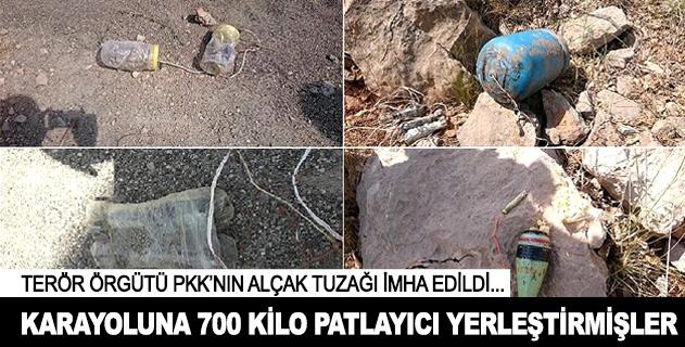 Teröristlerin karayoluna yerleştirdiği patlayıcı imha edildi