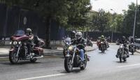 Başkentte motosikletlilerden terör protestosu