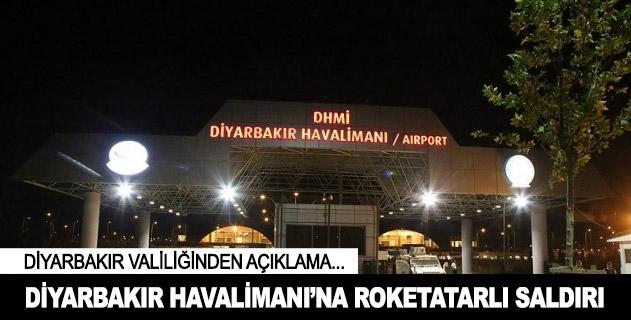 Diyarbakır Havalimanına roketatarlı saldırı