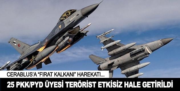TSK: 25 PKK/PYD üyesi etkisiz hale getirildi